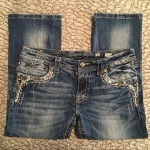 Miss Me Jeans   Signature Cuffed Capri   30x21